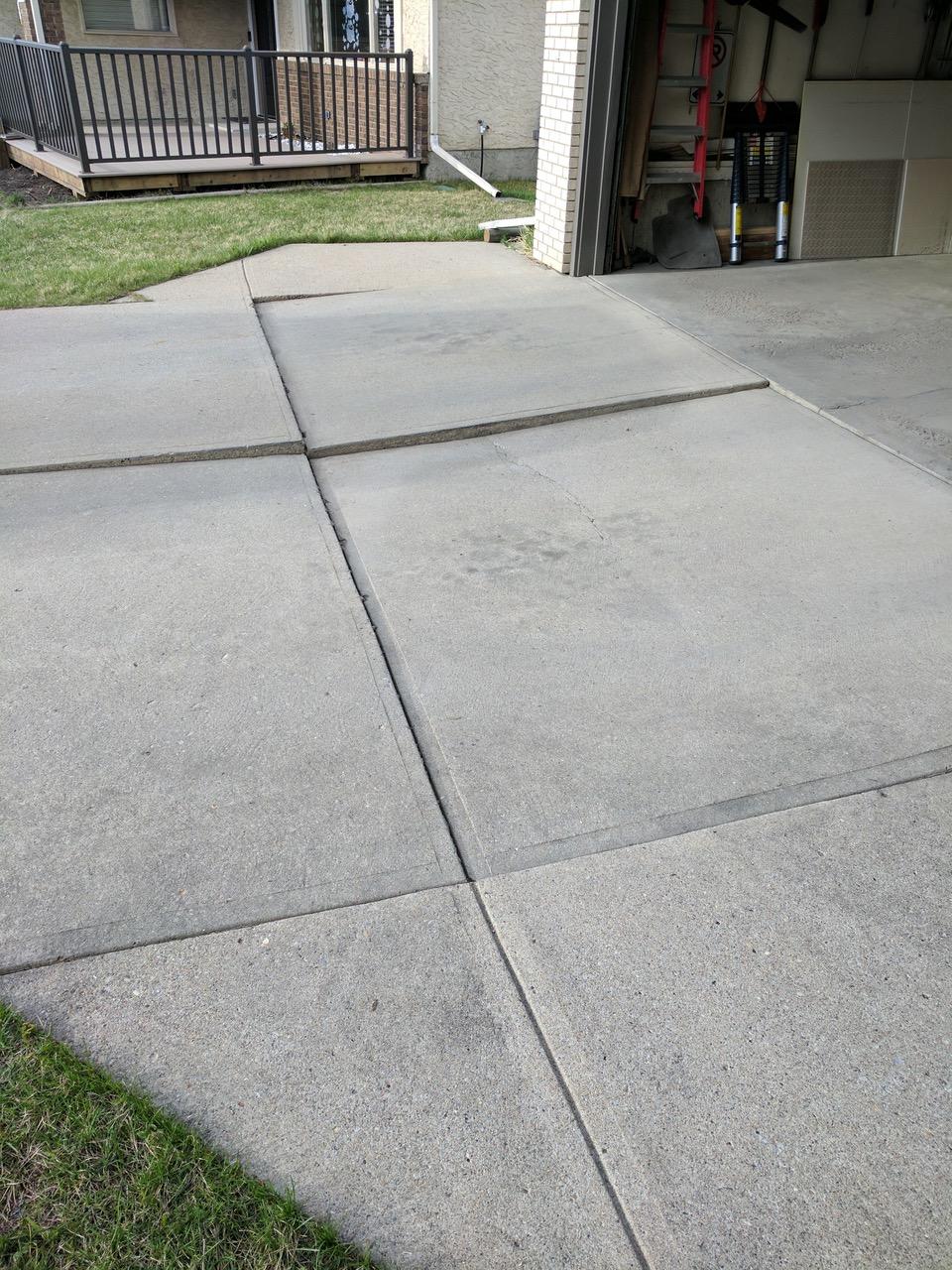 Uneven Concrete Driveway Before