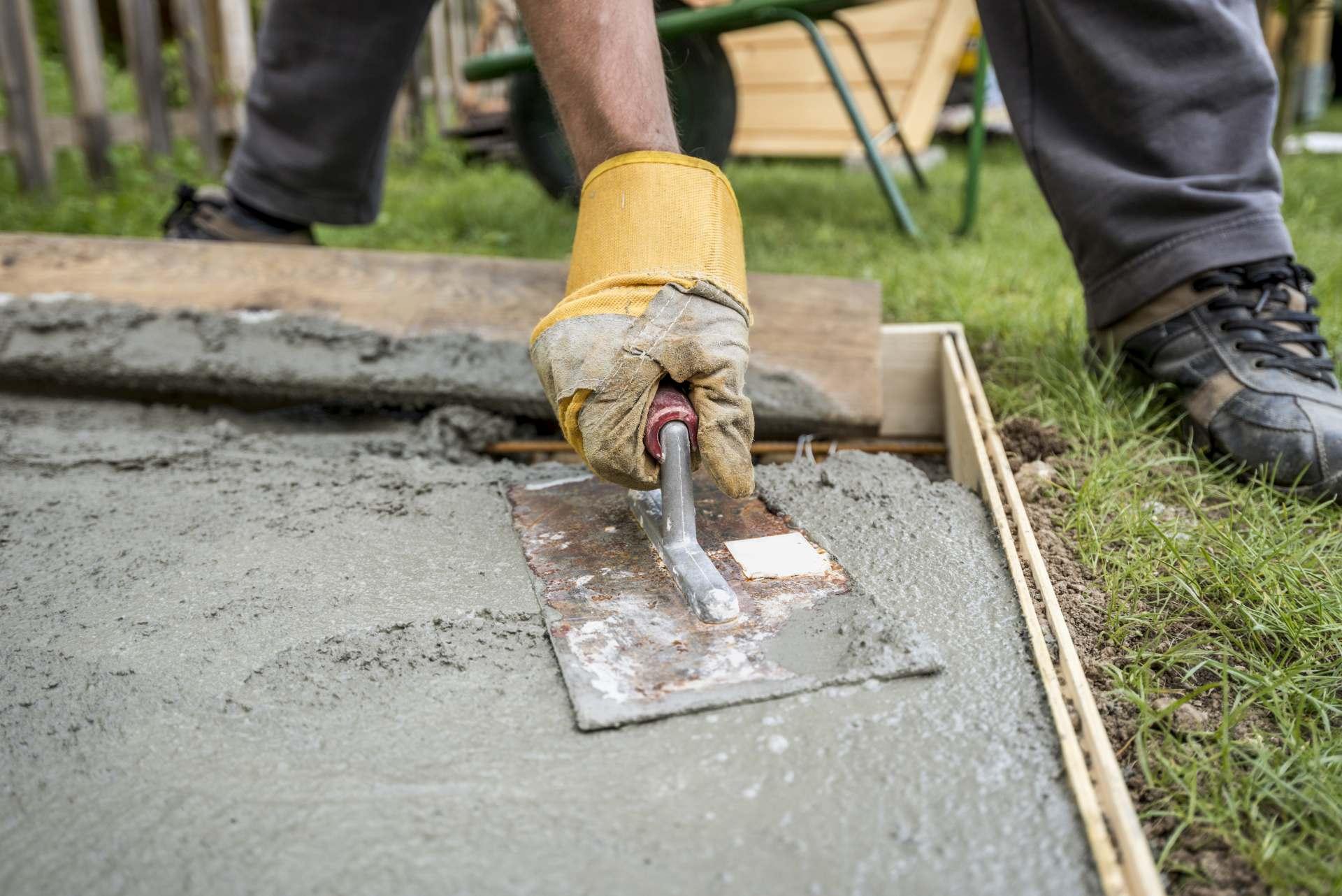 Paver Smoothing Fresh Concrete